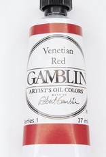Domestic Gamblin Oil Paint, Venetian Red, Series 1, Tube 37ml<br /> List Price: $10.95