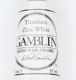 Domestic Gamblin Oil Paint, Titanium Zinc White, Series 1, Tube 37ml<br /> List Price: $10.95