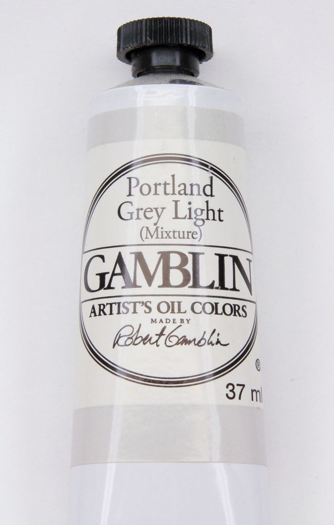 Domestic Gamblin Oil Paint, Portland Grey Light, Series 2, Tube 37ml<br /> List Price: 12.95