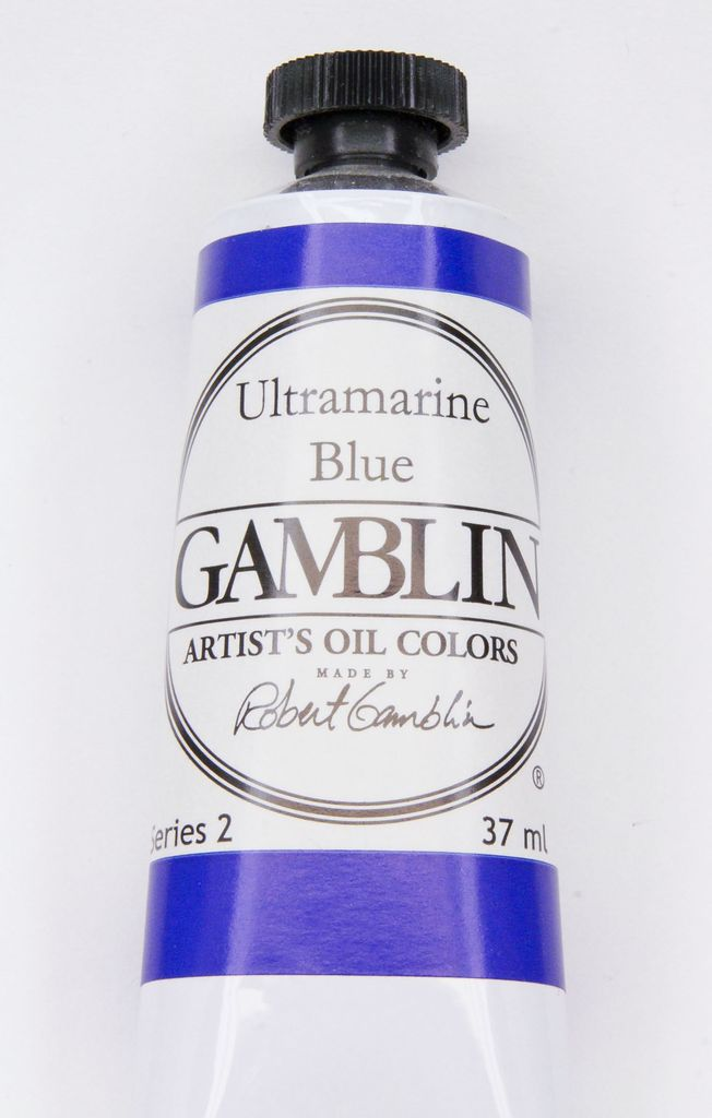 Domestic Gamblin Oil Paint, Ultramarine Blue, Series 2, Tube 37ml<br /> List Price: 12.95