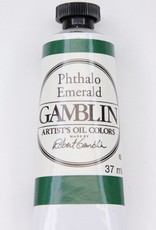 Domestic Gamblin Oil Paint, Phthalo Emerald, Series 2, Tube 37ml<br /> List Price: 12.95