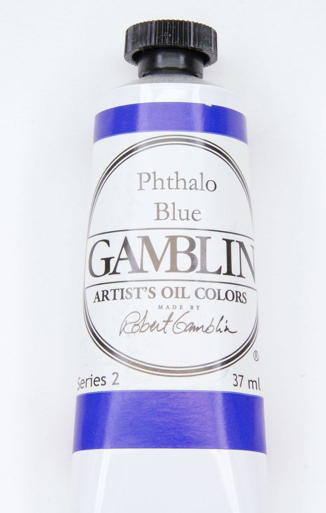 Domestic Gamblin Oil Paint, Phthalo Blue, Series 2, Tube 37ml<br /> List Price: 12.95