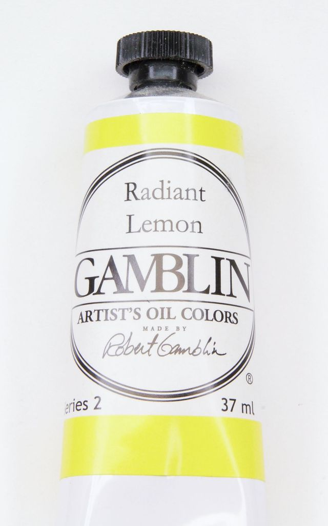 Domestic Gamblin Oil Paint, Radiant Lemon, Series 2, Tube 37ml<br /> List Price: 12.95