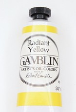 Domestic Gamblin Oil Paint, Radiant Yellow, Series 3, Tube 37ml<br /> List Price: 17.95