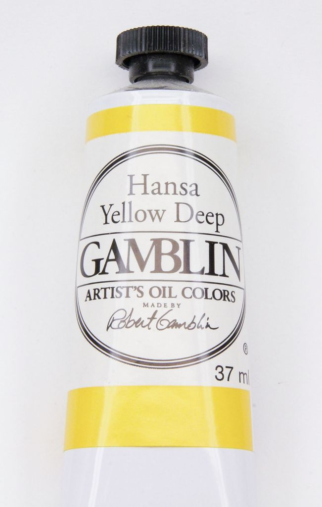 Domestic Gamblin Oil Paint, Hansa Yellow Deep, Series 3, Tube 37ml<br /> List Price: 17.95
