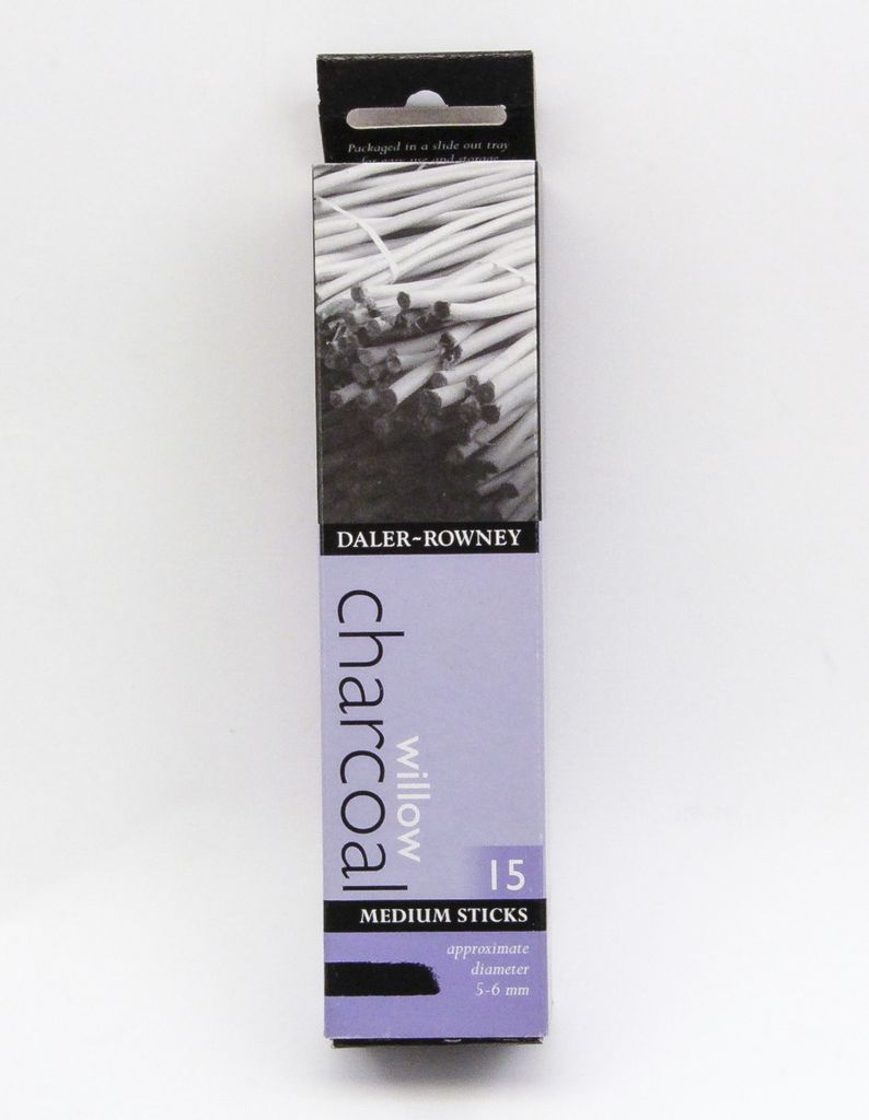 Italy Willow Charcoal, Medium Size, 15 Sticks