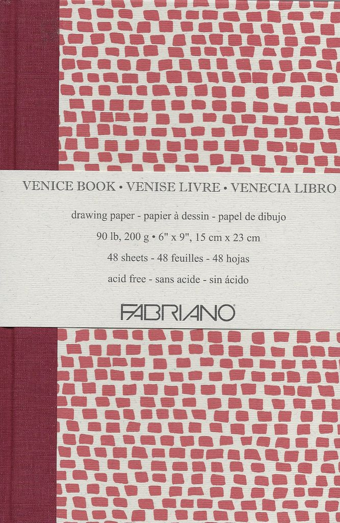"""Italy Fabriano, Venice Art Book, Drawing Paper, 90#/200gsm, 48 sheets, 6"""" x 9"""""""