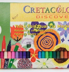 Cretacolor, Thin/Thick Dual Markers, 30 Discovery Markers