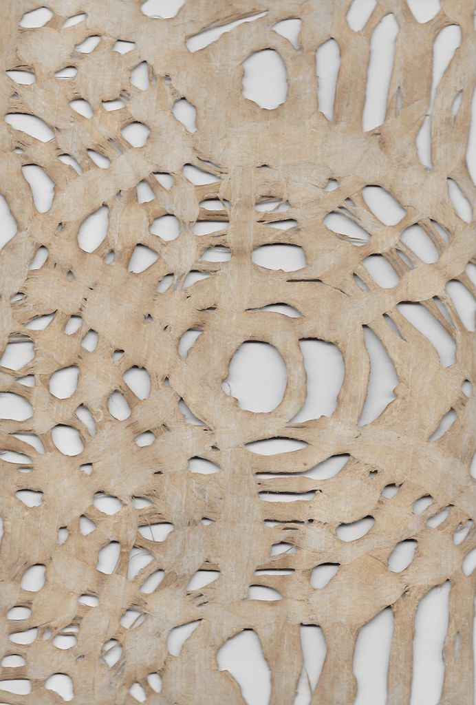 """Mexico Amate Circles, Light Brown, 15"""" x 23"""""""