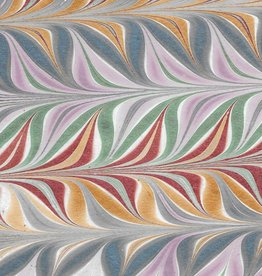 "India Indian Marble, Metallic Blue, Lavender, Red, Green, Gold ,  Feather Design, 22"" x 30"""