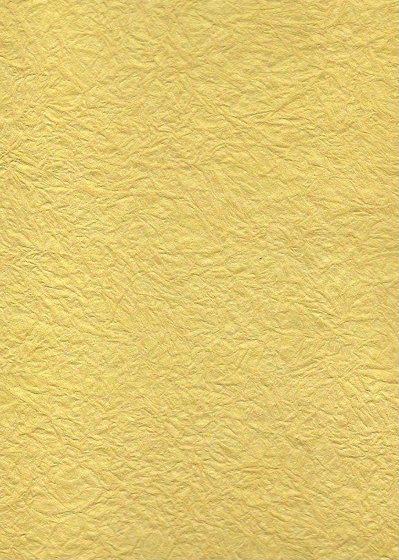 """India Hindumomi Crinkle Metallic Yellow, 22"""" x 30""""  200 gsm"""