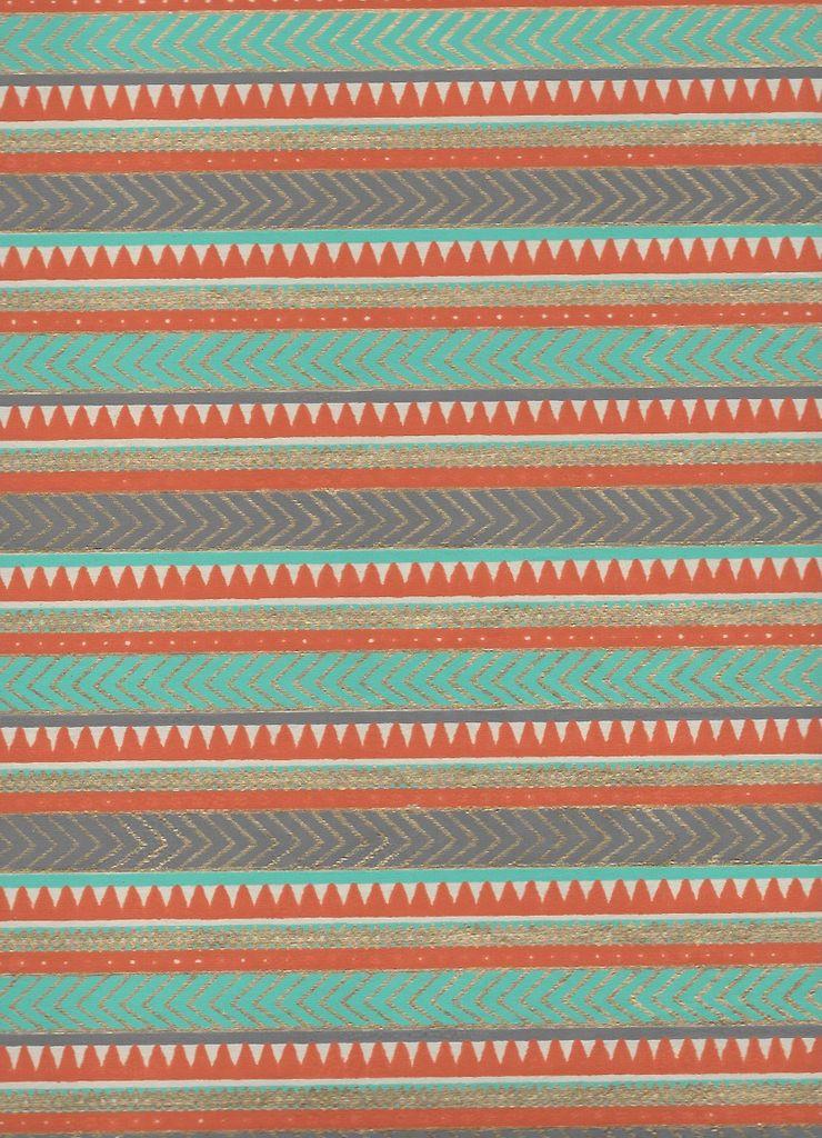 "India Egyptian Rug, Orange,Light Blue, Gold on White, 22"" x 30"" Limited Quantities"
