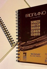 "Schizzi Sketch Pad, 8.25""x 11.75"", 120 Sheets, 90gsm Fabriano Paper, Spiral Bound-Micro Perforated"