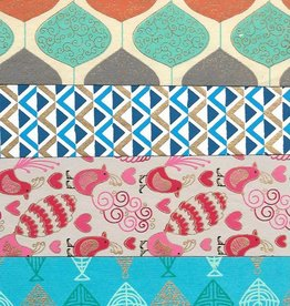 """India Indian Decorative Paper Pack, 11"""" x 17.25"""" 20 Sheets, Each sheet is a different and unique Indian Design Paper (paper will vary per pack)"""