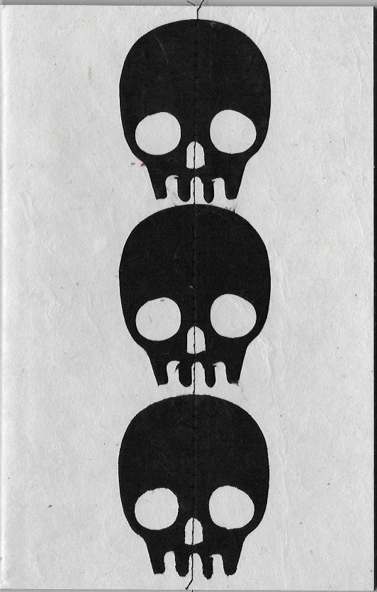 """Nepal Skull Journal, 5"""" x 8"""", 30 blank white pages - Dolphin Papers"""