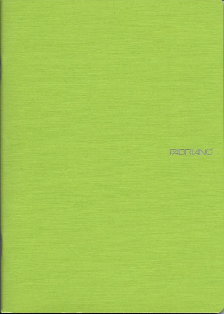"Italy EcoQua Blank Notebook, Lime, 5.75""x 8.25"" 40 Sheets"