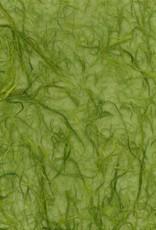 "Thailand Thai Chunky Kozo Artichoke Green, 25"" x 37"""