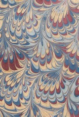 """India Indian Marble, Blue, Burgundy, Gold, Comb Design, 22"""" x 30"""""""