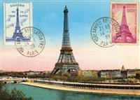 "Italy Cavallini Print, Eiffel Tower 2, 20"" x 28"""