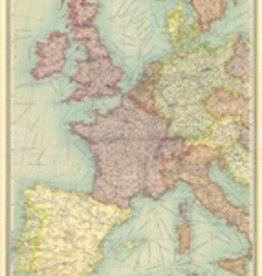 "Italy Cavallini Print, Europe Map 2, 20"" x 28"""