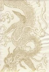 "Golden Dragon White, Sumi 27"" x 54"""