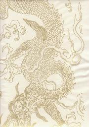 """Golden Dragon White, 27"""" x 54"""""""