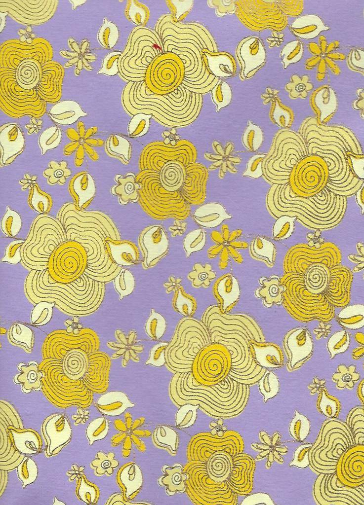 "India Daisy Chain, Available in Two Colors, 22"" x 30"""
