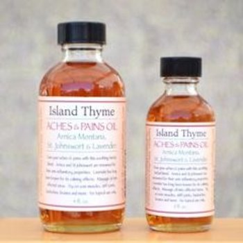 Island Thyme Aches and Pain oil