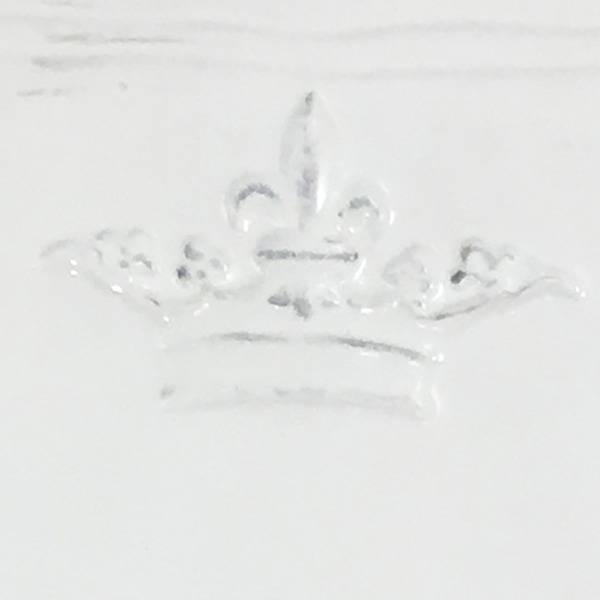 Crown Platter White LG
