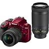 Nikon Nikon D3400 18-55 VR + 70-300 Kit (Red) #1574