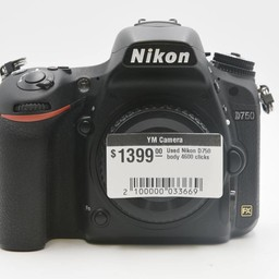 Used Nikon D750 body 5k clicks