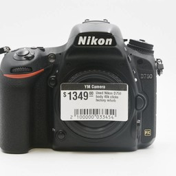 Used Nikon D750 body 40k clicks (Factory Refurb)