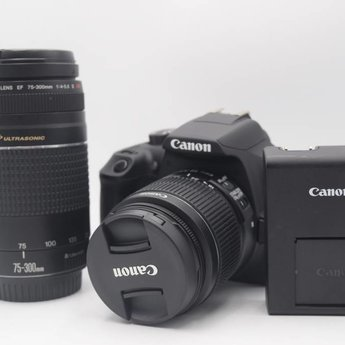 Used Canon T6 18-55 / 75-300 2/lens kit (shutter count 12)
