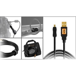 Tether Tools Tether Tools Starter Tethering Kit w/ USB 2.0 Mini-B 8 Pin Cable 15' ORG