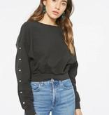 Snap Sleeve Sweatshirt