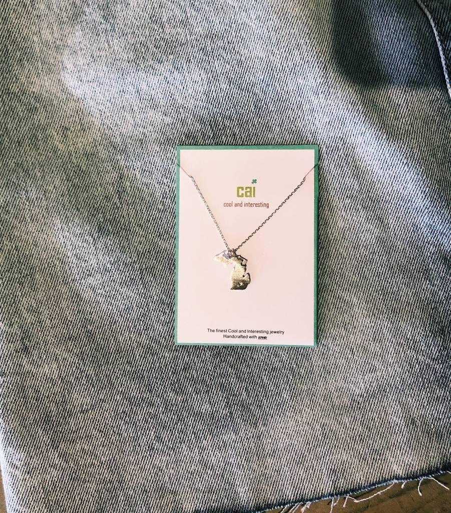 Michigan Necklace w/ Charm