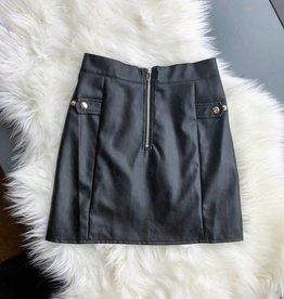 Lo Vegan Leather Skirt