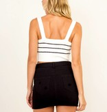 Jessie Striped Crop Top