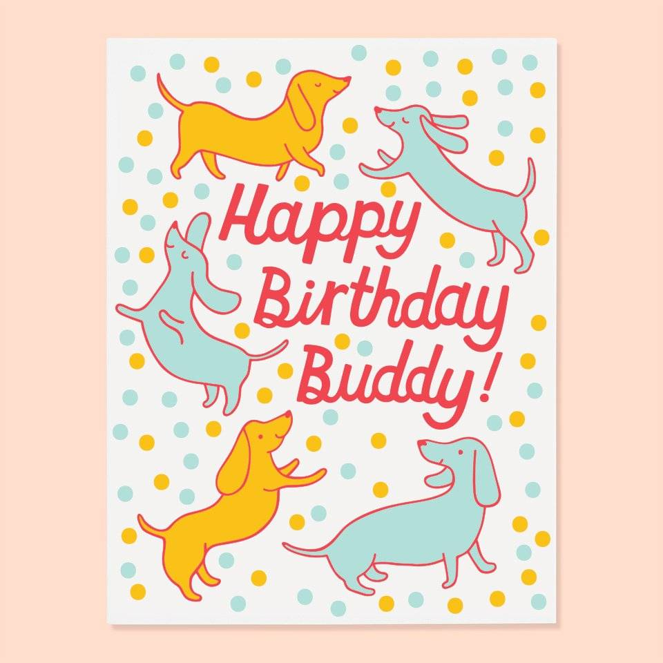 The Good Twin Doxie Bday Card