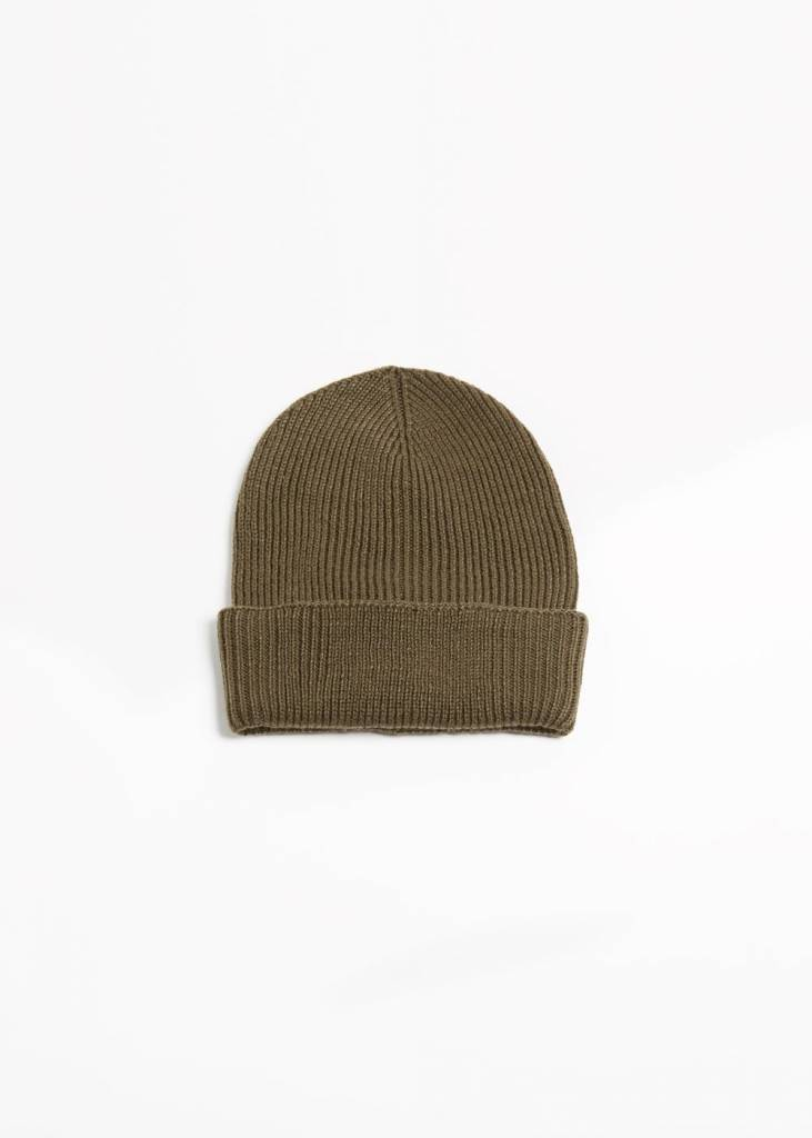 Cashmere Blend Ribbed Beanie