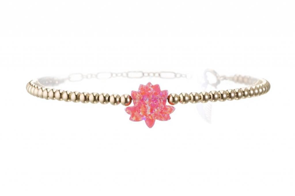 Opal Lotus Bracelet Bead Chain