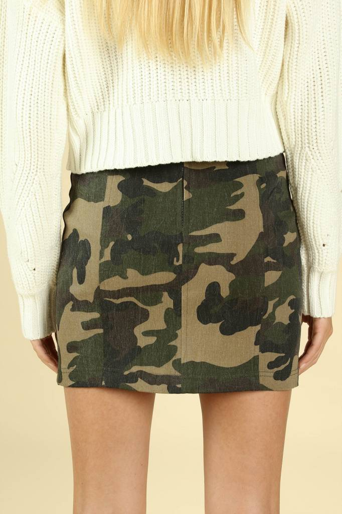 Tara Camo Skirt