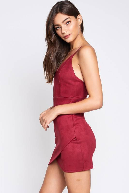 Evelyn Suede Dress