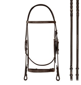 Bobby's English Tack Bobby's English Tack Fancy Raised Snaffle Bridle & Matching Reins