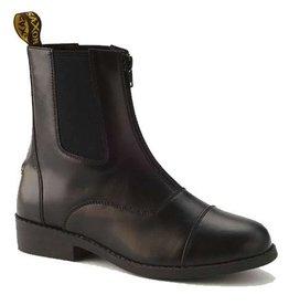 Saxon Saxon Equileather Zip Kids Paddock Boot