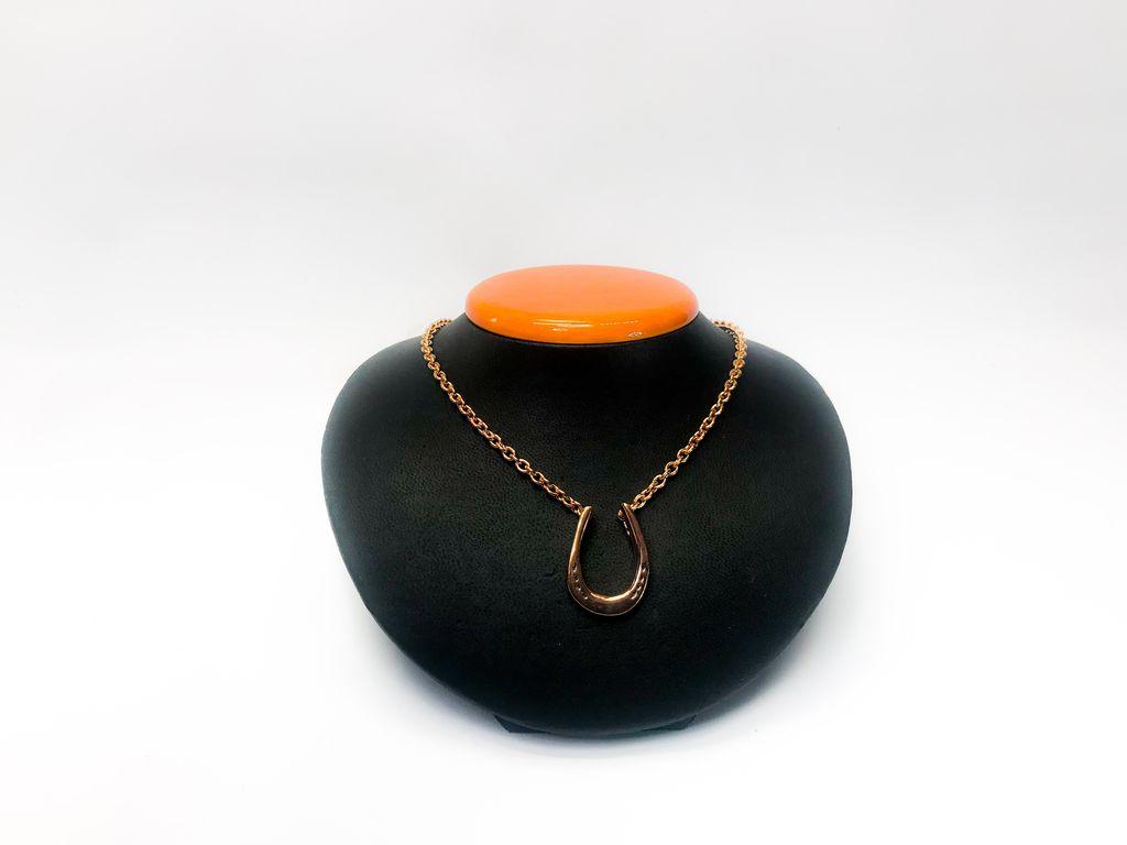 Michel McNabb Jewelry Michel McNabb Rose Gold Large Horseshoe Pendant Necklace
