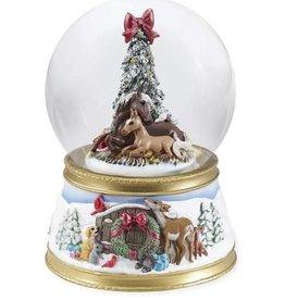 Breyer Breyer The Gift of Love Musical Holiday Snow Globe 2018