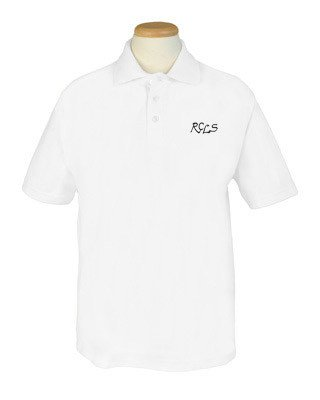 Short Sleeve Polo - White - Youth Sizes
