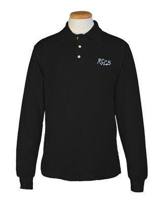 Long Sleeve Polo - Black- Lower School- Adult Sizes