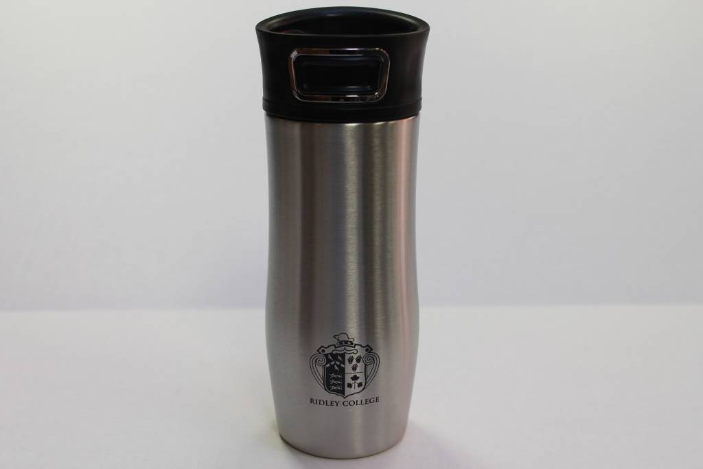 Silver Tumbler with Crest-14oz